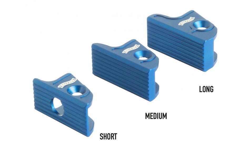 Blisterpack Abzugsschuh, flach, kurz, blau Expert Abzug