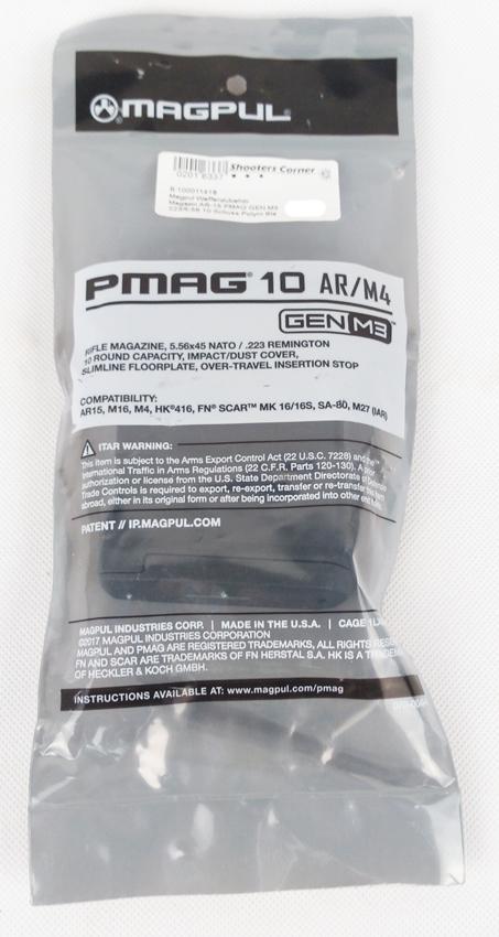 Magazin AR-15 PMAG GEN M3 223/5.56 10 Schuss Polym Black