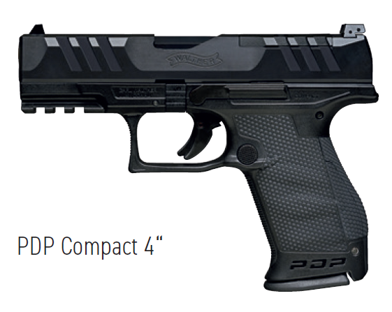 """PDP Compact 4"""" 9mm Luger - 2 Magazine"""