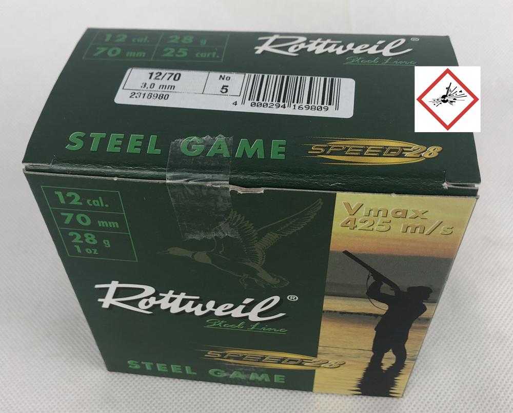 RW STEEL GAME SPEED 12/70 28G 3,0MM 25ER
