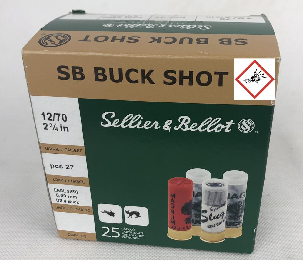 12/70 Buck-Shot 36 g, 6,1 mm 25Stk
