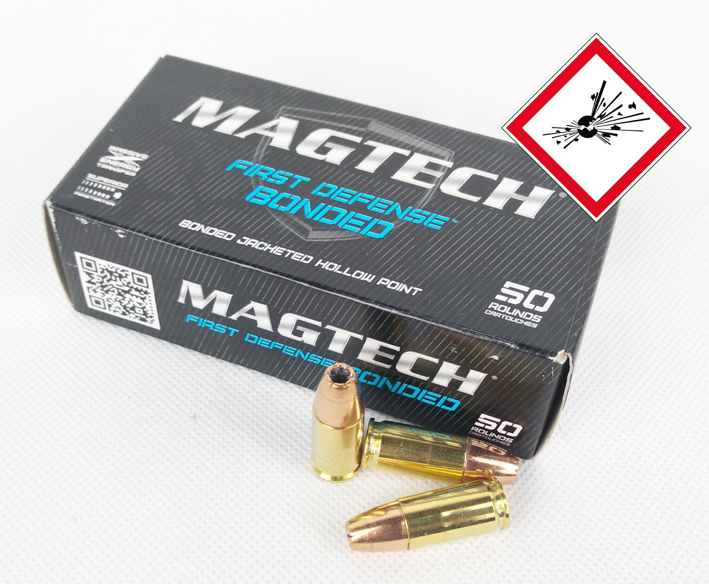 9mm Luger First Defense Bonded 147grs JHP SUB