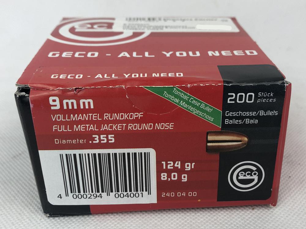 GESCH VM 9MM 8,0G/124GR TOMBAK 200ER