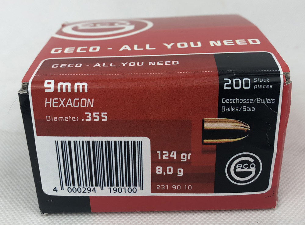 GESCH 9MM 8G/124GR HEXAGON 200ER