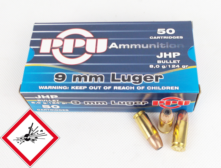9mm Luger JHP 124gr