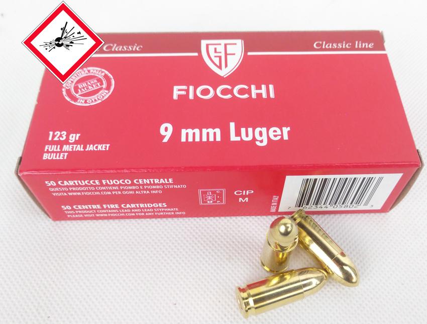 Fiocchi 9 mm Luger VM 123 grs